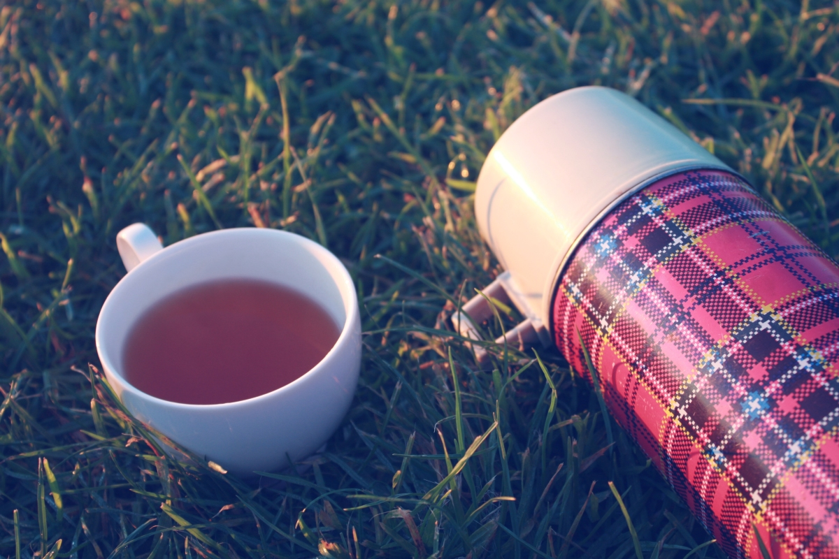 thermos of hot cider
