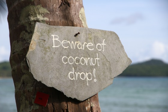 Beware of coconut drop