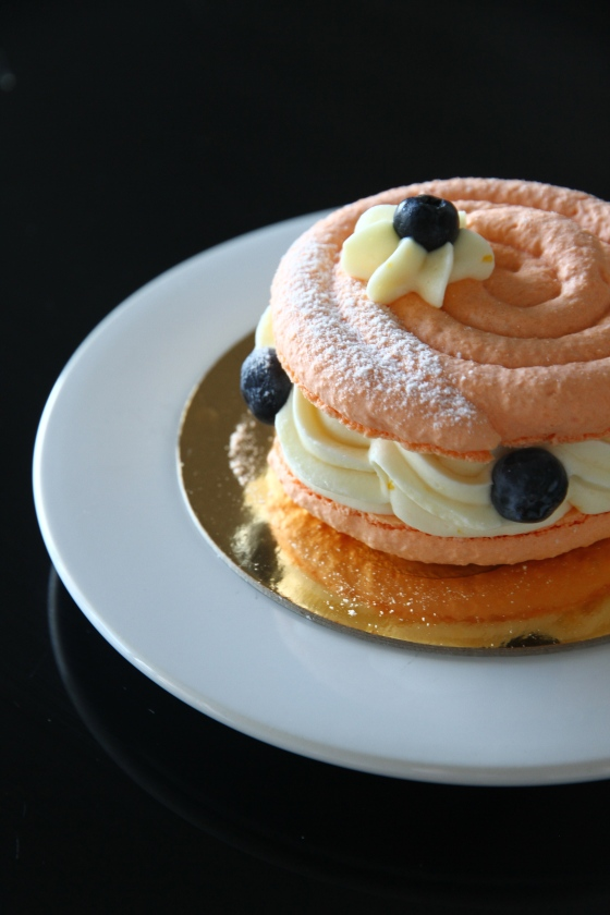 Orange Blueberry Macaron Cake, Duchess Bakeshop