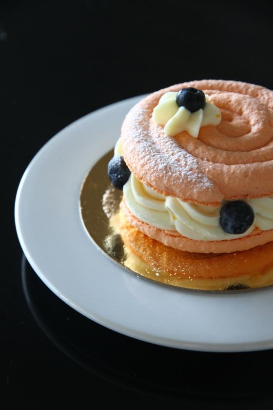 Orange Blueberry Macaron Cake, Duchess Bakeshop