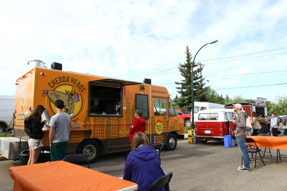 Red Deer Food trucks Chedda'Heads and the Stache