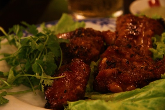char grilled meat